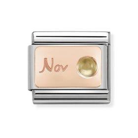 Classic Rose Gold November Birthstone Charm