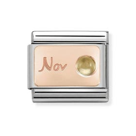 Classic Rose Gold November Birthstone Charm