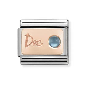 Classic Rose Gold December Birthstone Charm