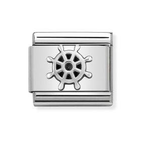 Classic Silver Boat Wheel Charm