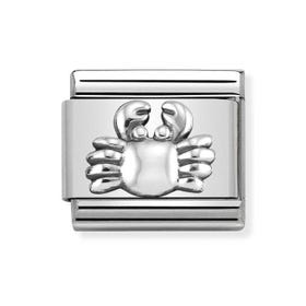 Classic Silver Crab Charm
