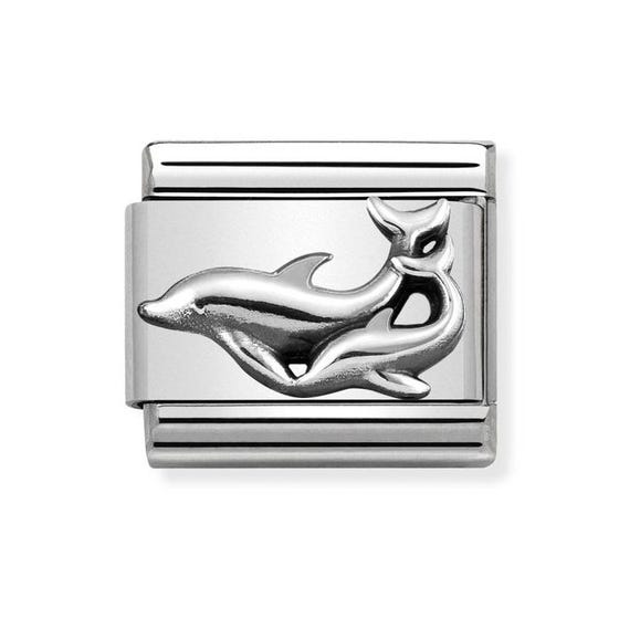 Classic Silver Dolphins Charm