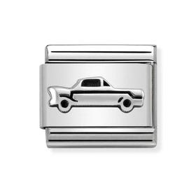 Classic Silver Vintage Car Charm