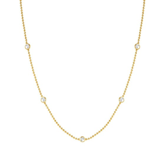 Bella Gold Plated & Crystal Necklace
