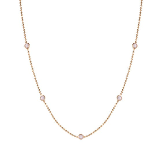 Bella Rose Gold Plated & Pink Crystal Necklace