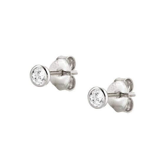 Bella Silver & Crystal Earrings