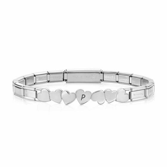 Trendsetter Steel Heart Bracelet