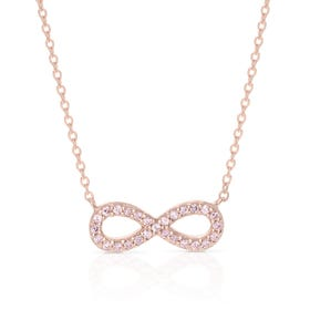 Aithre Rose Gold Plated Silver Infinity Necklace