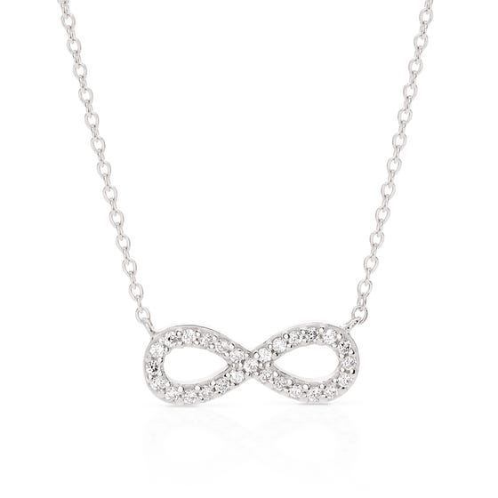 Aithre Silver Infinity Necklace