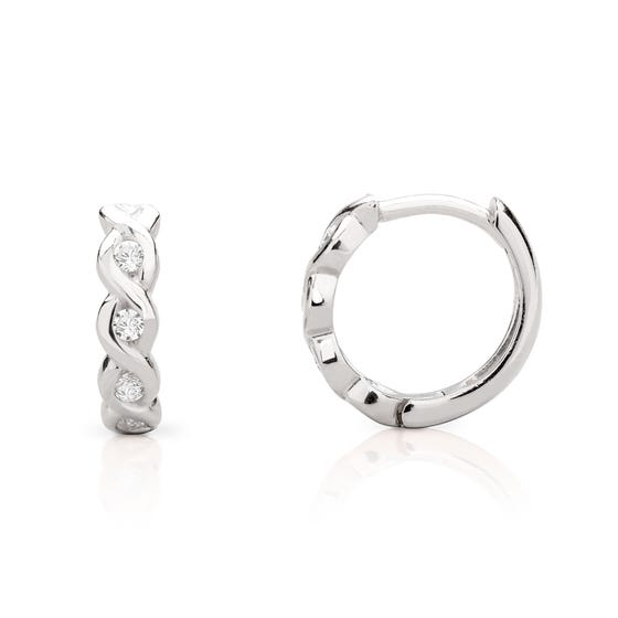 Selene Silver Wave Hoop Earrings