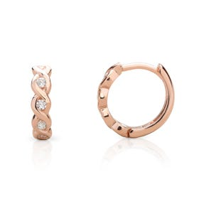 Selene Rose Gold Plated Silver Wave Hoop Earrings