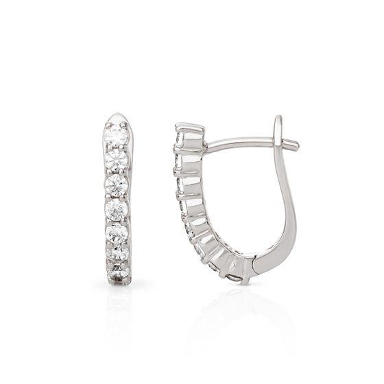 Hera Silver Hinged Huggie Earrings