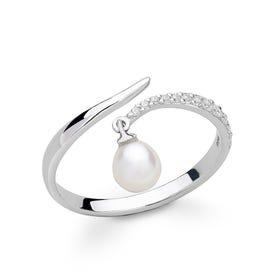 Kite Pearl Silver Ring