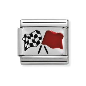 Classic Chequered Flag Charm