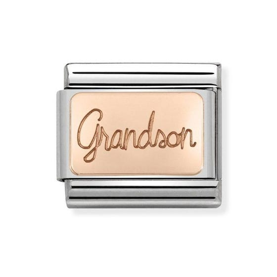 Classic Rose Gold Grandson Charm