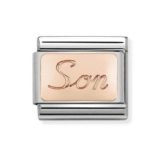 Classic Rose Gold Son Charm