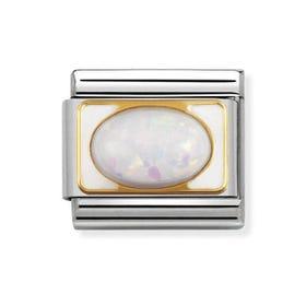 Classic White Opal Charm