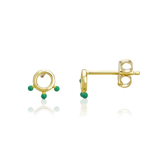 Anahita Gold Plated Silver Open Disc Earrings