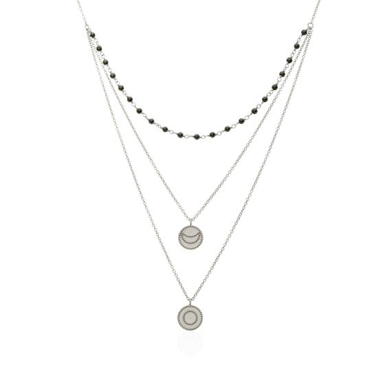 Athena Silver Layered Necklace
