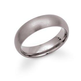 Titanium 6mm Matte Ring TR-1