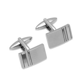 Stainless Steel Rectangular Cufflinks