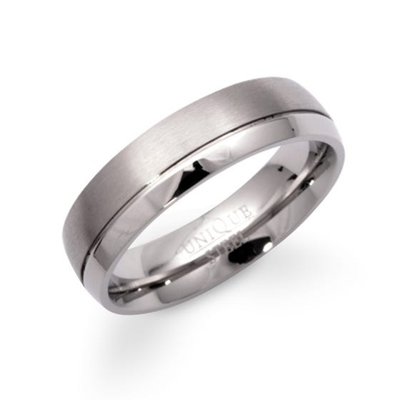 Stainless Steel Matte & Polished Ring
