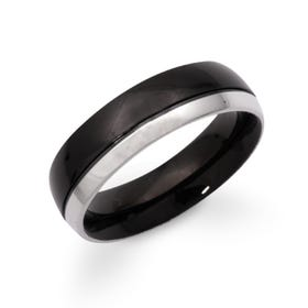 Stainless Steel & Black Plated Ring