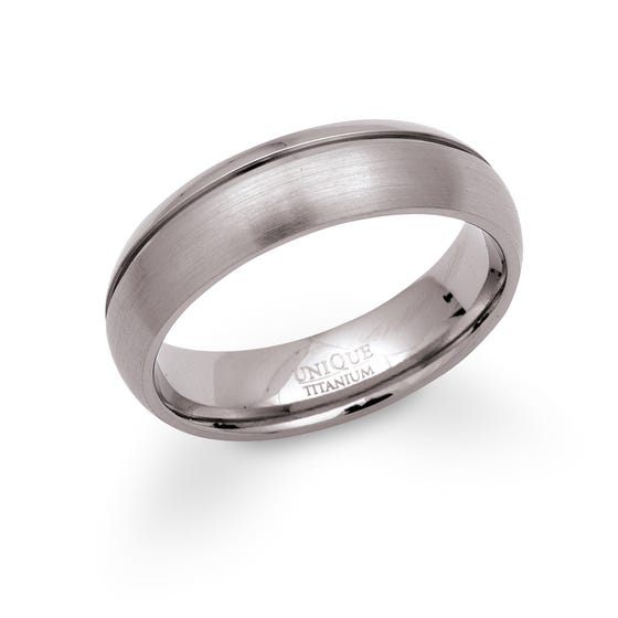 Titanium Matte 6mm Ring