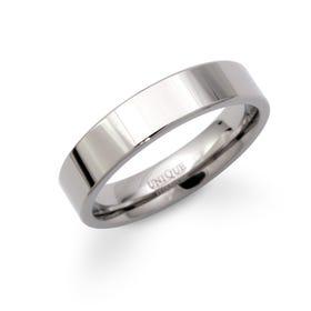 Polished 5mm Titanium Flat Court Ring