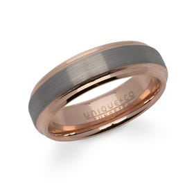Rose Gold Plated Tungsten Carbide 7mm Ring