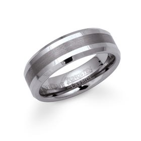 Brushed Tungsten 7mm Ring
