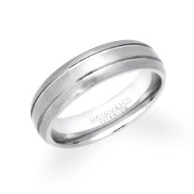 Titanium Grooved 6mm Ring TR-3