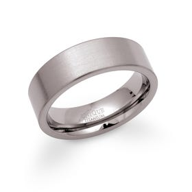 Brushed 7mm Titanium Ring