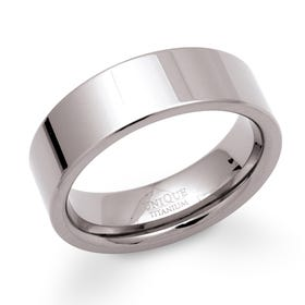Polished 7mm Titanium Ring