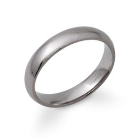 Polished 5mm Titanium Ring