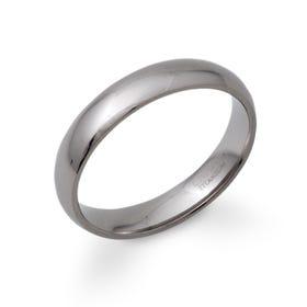 Polished 5mm Titanium Ring