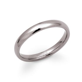 Polished Titanium 3mm Ring
