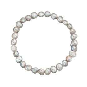 Grey Cultured Pearl Bracelet