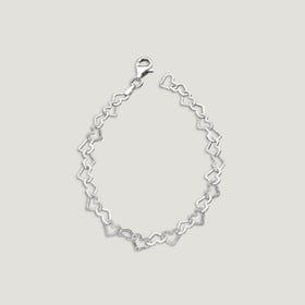 Love Diamond Cut Heart Bracelet