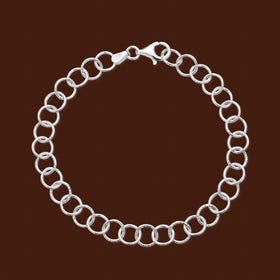 Muse Diamond Cut Links Silver Bracelet