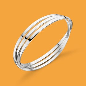 Identity Flat Russian Wedding Silver Bangle