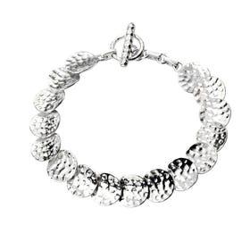 Minerva Hammered Disc Articulated Bracelet
