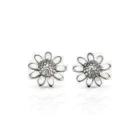 Meadow Flower Silver Stud Earrings