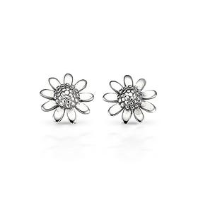 Meadow Flower Silver Stud Earrings