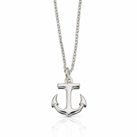 Cove Anchor Silver Necklace