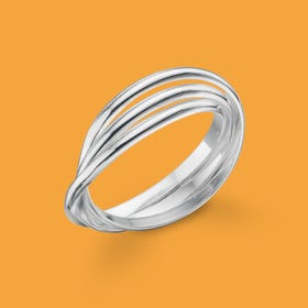 Identity Russian Silver Wedding Ring
