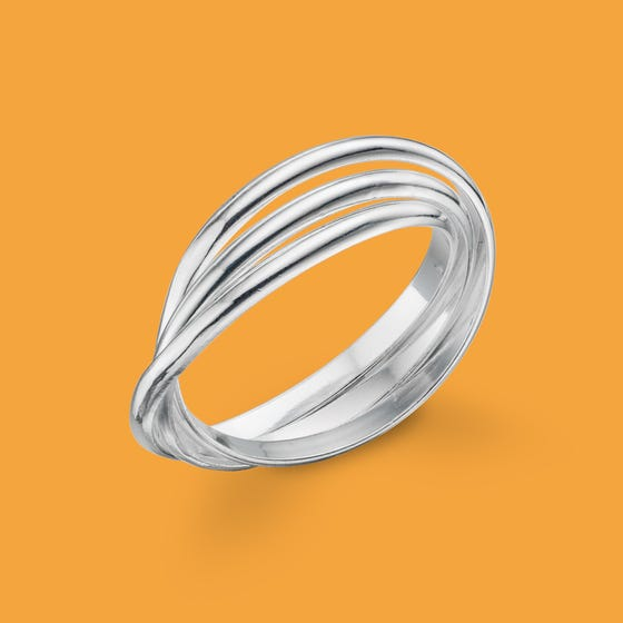Identity Russian Silver Wedding Ring