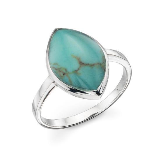 Athena Imitation Turquoise Marquise Ring