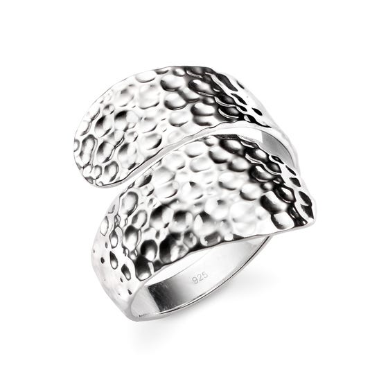 Series 1 Hammered Wrap Around Silver Ring