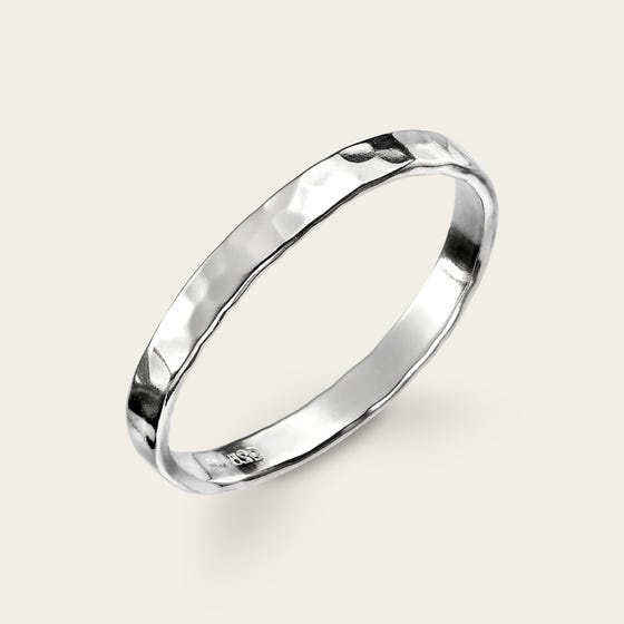 Series 1 Hammered Silver Ring